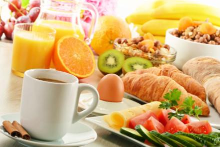 Frühstücksangebot im Weintreff